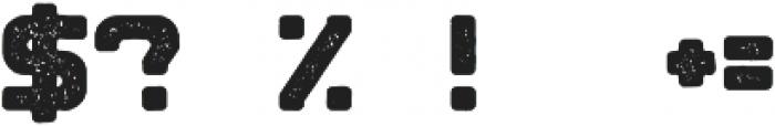 Blok Rough otf (400) Font OTHER CHARS