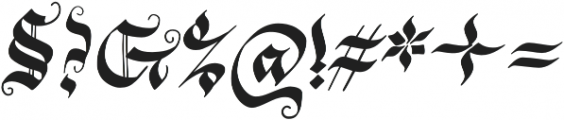 Blonde Fraktur Regular otf (400) Font OTHER CHARS
