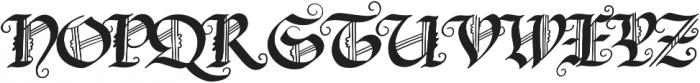 Blonde Fraktur Regular otf (400) Font UPPERCASE