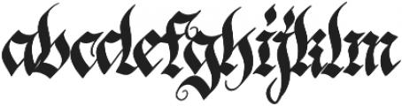 Blonde Fraktur Regular otf (400) Font LOWERCASE
