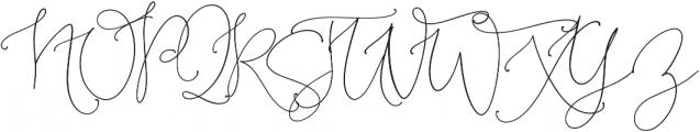 BloomPretty Regular ttf (400) Font UPPERCASE