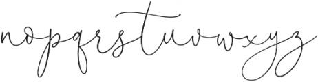 BloomPretty Regular ttf (400) Font LOWERCASE