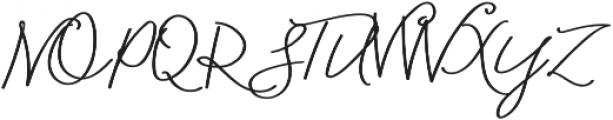 Blooming Elegant Monoline otf (400) Font UPPERCASE