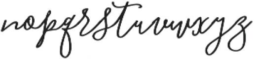 Blooming Elegant Monoline otf (400) Font LOWERCASE