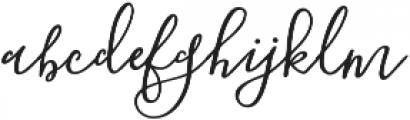 Blooming Elegant Sans otf (400) Font LOWERCASE