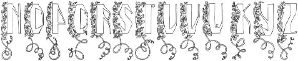 Blooming garden (line) ttf (400) Font UPPERCASE