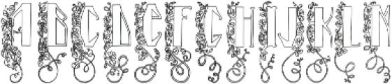 Blooming garden (line) ttf (400) Font LOWERCASE
