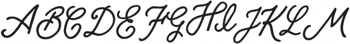 Bloomsbury Script otf (400) Font UPPERCASE