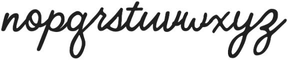 Bloomsbury Script otf (400) Font LOWERCASE