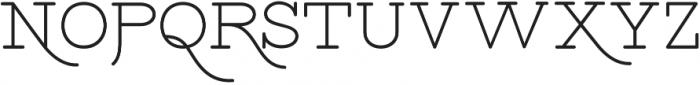 Bloser Serif Bold otf (700) Font UPPERCASE