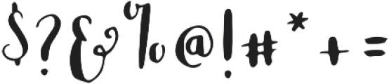 Blossom Left otf (400) Font OTHER CHARS