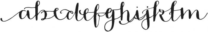 Blossom Left otf (400) Font LOWERCASE