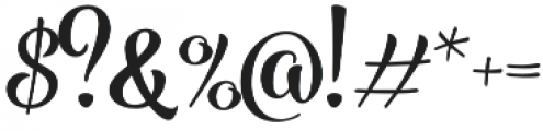 Blossoms Bold otf (700) Font OTHER CHARS