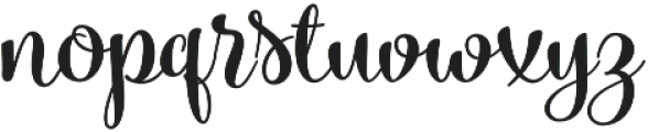 Blossoms Bold otf (700) Font LOWERCASE
