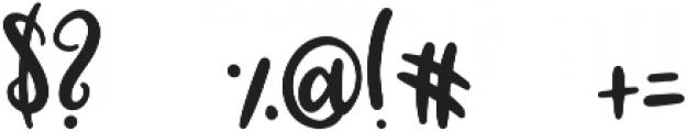 Blossomy Regular ttf (400) Font OTHER CHARS