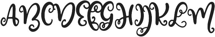 Blossomy Regular ttf (400) Font UPPERCASE