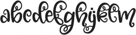 Blossomy Regular ttf (400) Font LOWERCASE