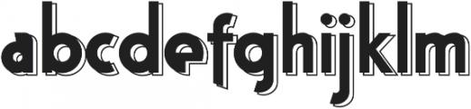 Bloxhall Layered otf (400) Font LOWERCASE