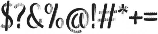 Blu Halftone otf (400) Font OTHER CHARS