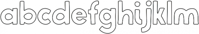 BluBerry Outline ttf (400) Font LOWERCASE