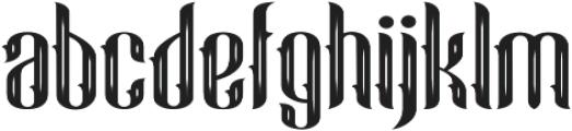 Blue Angel Gothic otf (400) Font LOWERCASE