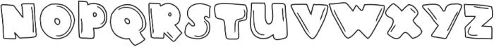 Blue Bubblegum Line otf (400) Font UPPERCASE