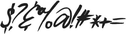 Blue Liquid Italic otf (400) Font OTHER CHARS