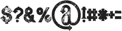 Blue North Grunge otf (400) Font OTHER CHARS