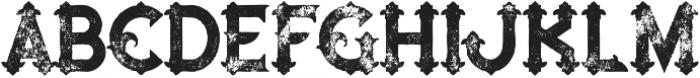 Blue North Grunge otf (400) Font UPPERCASE