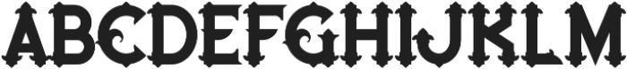 Blue North regular otf (400) Font LOWERCASE