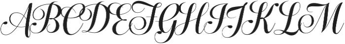 Bluebell Medium otf (500) Font UPPERCASE