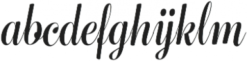 Bluebell Medium otf (500) Font LOWERCASE