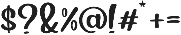 Blueberry Regular otf (400) Font OTHER CHARS
