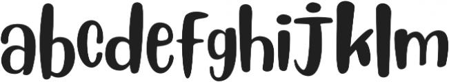 Blueberry Regular ttf (400) Font LOWERCASE