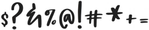 Bluebird Regular otf (400) Font OTHER CHARS