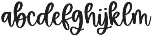 Bluebird Regular otf (400) Font LOWERCASE