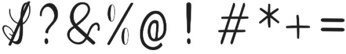 Bluebonnet otf (400) Font OTHER CHARS