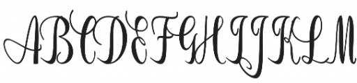 Bluebonnet otf (400) Font UPPERCASE