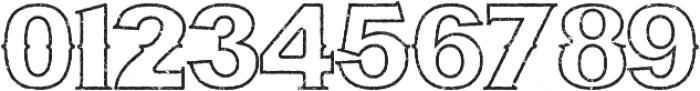 Bluegrass OUTLINE otf (400) Font OTHER CHARS