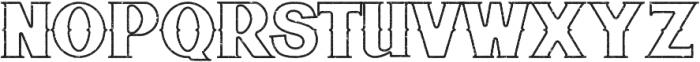 Bluegrass OUTLINE otf (400) Font UPPERCASE