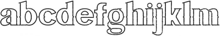 Bluegrass OUTLINE otf (400) Font LOWERCASE