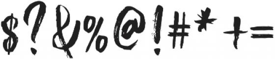 Bluesky Regular otf (400) Font OTHER CHARS