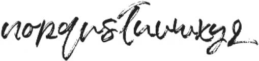 Blush Collective Upright Alt otf (400) Font LOWERCASE