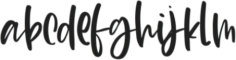 Blush Lovely otf (400) Font LOWERCASE