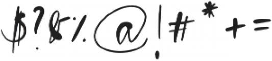 Blush Pink Script otf (400) Font OTHER CHARS
