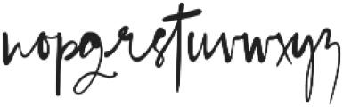 Blush Pink Script otf (400) Font LOWERCASE