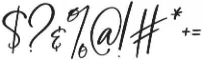 BlushAndBloom Slanted otf (400) Font OTHER CHARS
