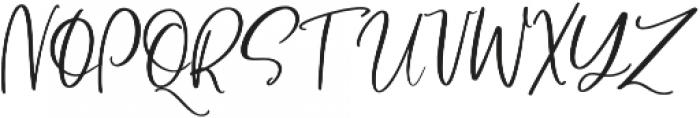 BlushAndBloom Slanted otf (400) Font UPPERCASE