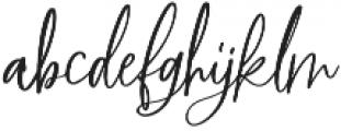 BlushAndBloom Slanted otf (400) Font LOWERCASE