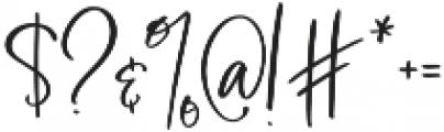 BlushAndBloom otf (400) Font OTHER CHARS
